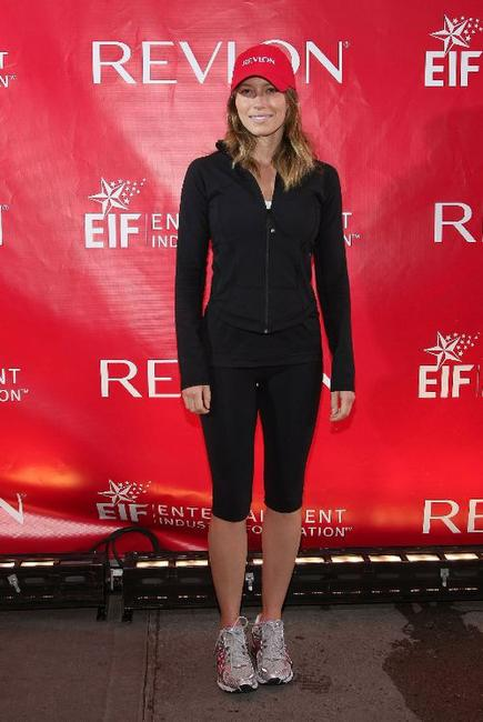 Jessica Biel at the 12th Annual EIF Revlon Run/Walk For Women.